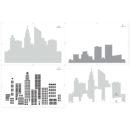 City Skyline Multi-Colour Stencil Layers