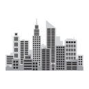 City Skyline Multi-Colour Stencil