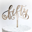 Fabulous Fifty Cake Topper