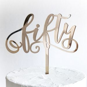 Fabulous Fifty Cake Topper