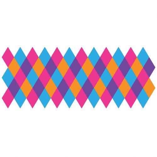 Harlequin Multi-Colour Stencil