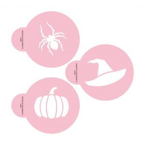 Halloween Icons Cookie Stencil Set