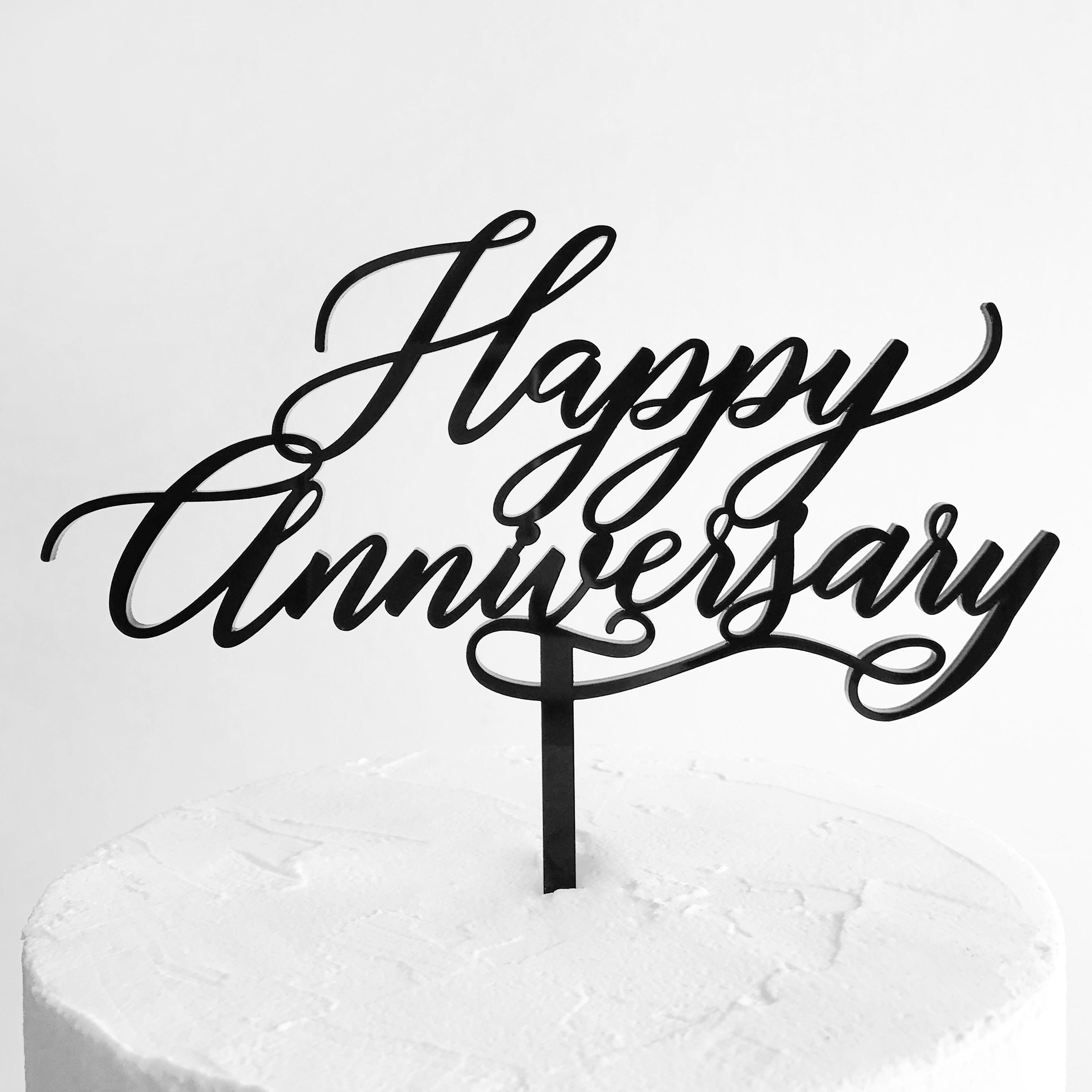 Happy Anniversary Cake Topper SANDRA DILLON DESIGN