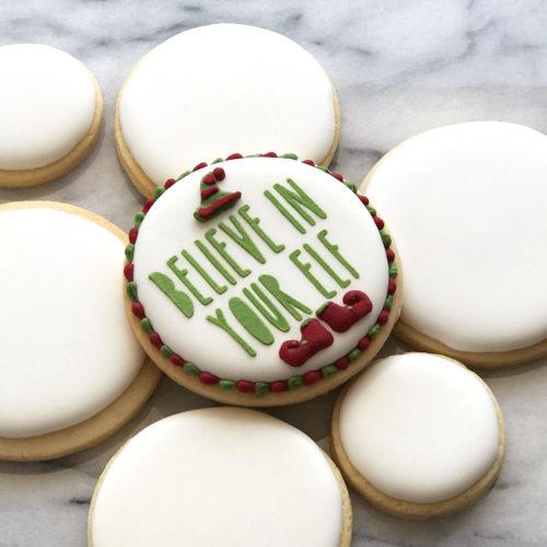 Believe in Your Elf Cookie Stencil