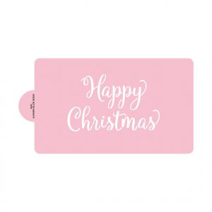 Cheery Happy Christmas Stencils (large, for cake)