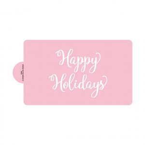Cheery Happy Holidays Stencils (large, for cake)
