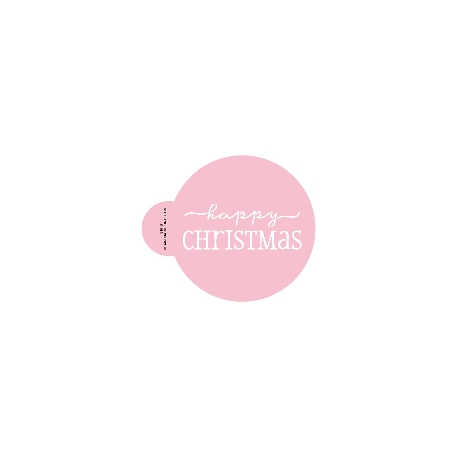 Dashing Happy Christmas Stencils (for cookies)