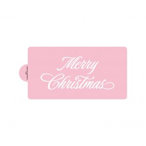 Elegant Merry Christmas Stencils (large, for cakes)