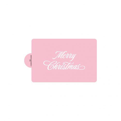 Elegant Merry Christmas Stencils (regular, for cakes)