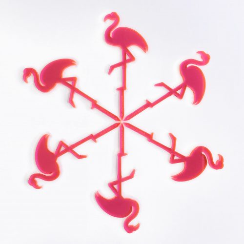 Flamingo Cupcake Topper Set