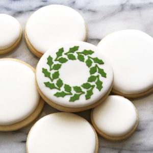 Holly Wreath Cookie Stencil