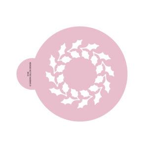 Holly Wreath Cookie Stencil