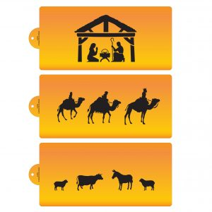 The Nativity Cake Stencil Set