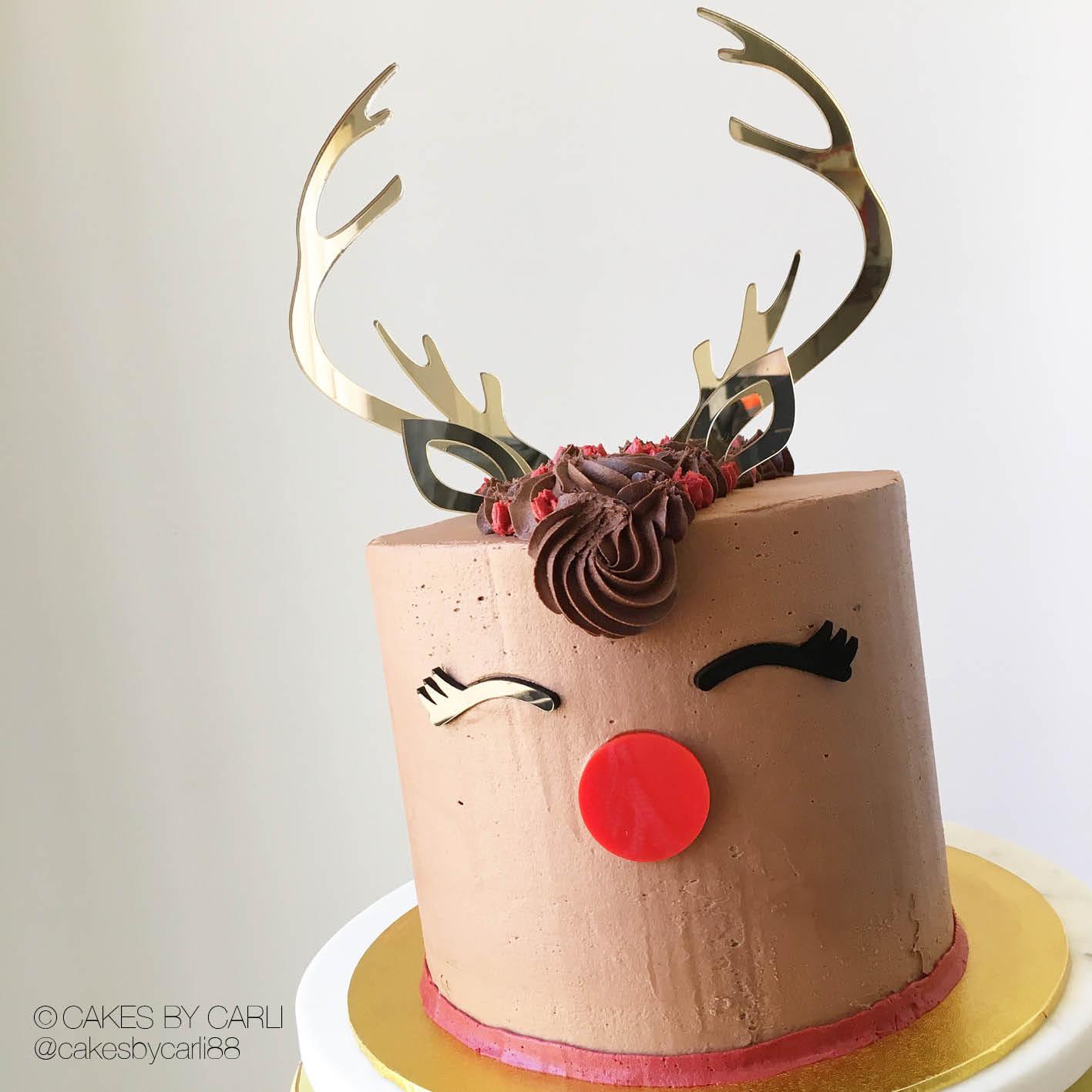 Reindeer cake decoration,Antler cake topper,Reindeer Topper,Glitter cake toppers,Christmas cake topper Reindeer Cake Topper Antler topper