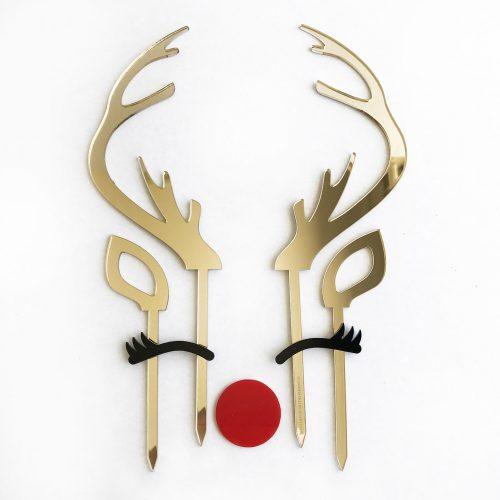 Reindeer Antler Cake Topper Set