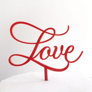 Lovely Love Cake Topper in Red