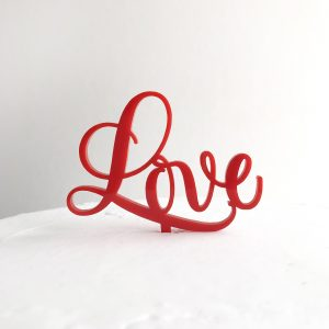 Small Sweet Love Cake Topper in Red