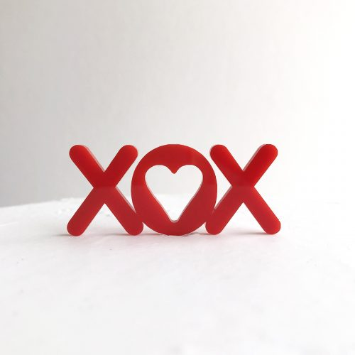 XOX Mini Cake Topper in Red