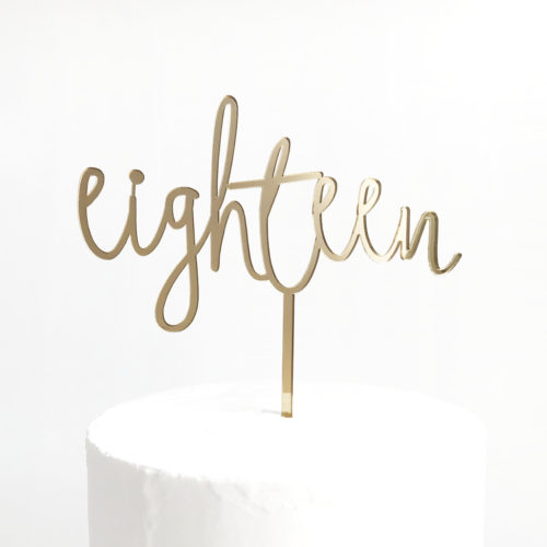Wild Eighteen Cake Topper in Gold