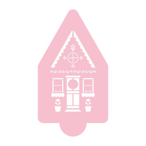 Cute Gingerbread House Stencil