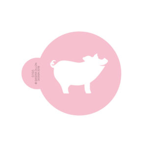 2019 Lucky Pig Cookie Stencil