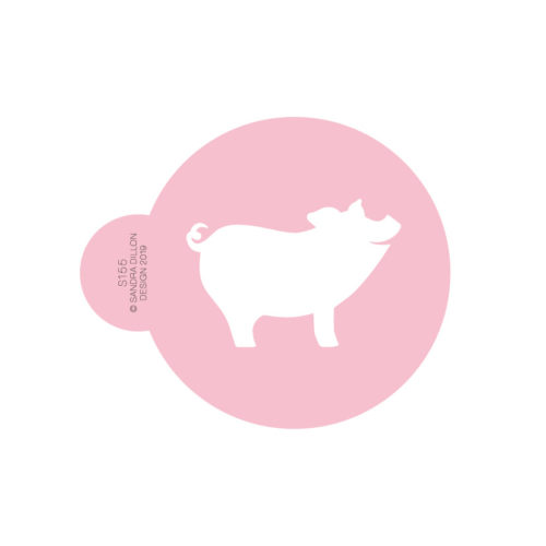 2019 Lucky Pig Cookie Stencil