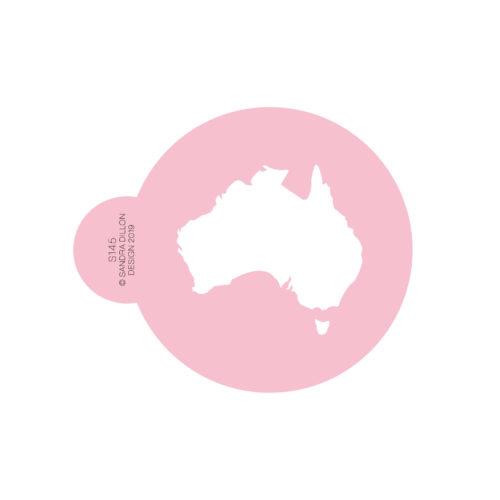 Australia Map Cookie Stencil
