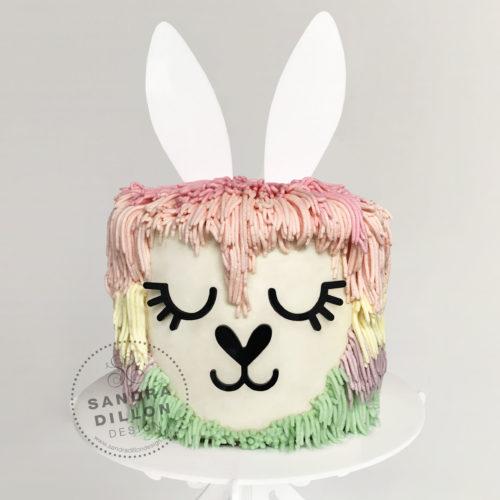 Bunny Ears Cake Topper Set LLAMA CAKE