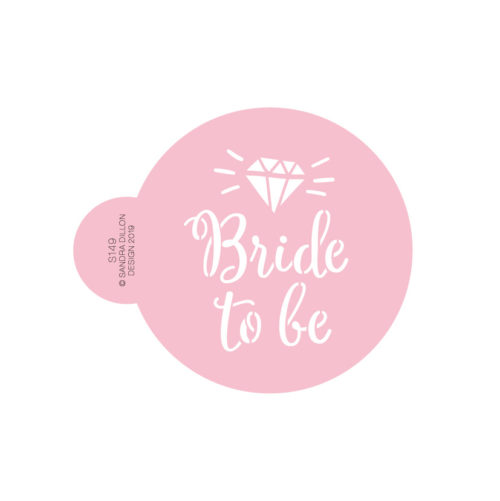 Diamond Bride to be Cookie Stencil