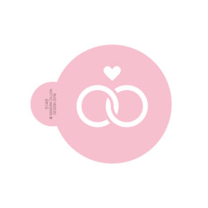 Entwined Love Rings Cookie Stencil