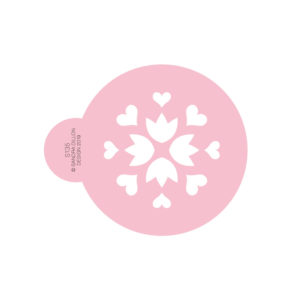Folk Heart Cookie Stencil