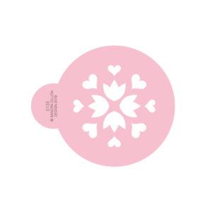 Folk Heart Cookie Stencil