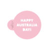 Happy Australia Day Cookie Stencil