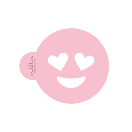 Heart Eyes Emoji Cookie Stencil
