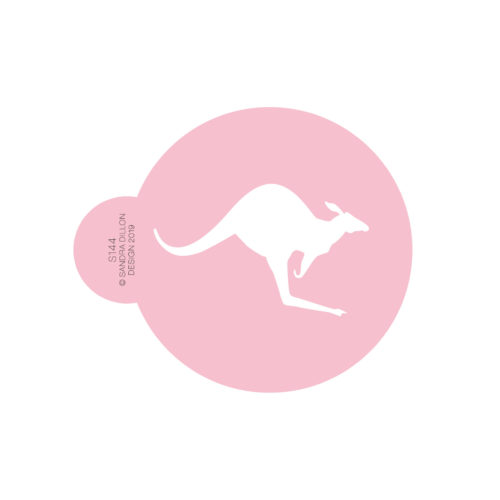 Hopping Kangaroo Cookie Stencil