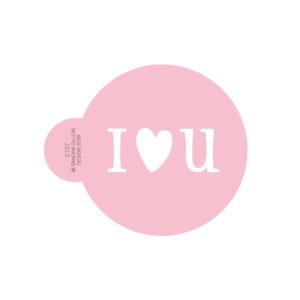 I Heart U Cookie Stencil