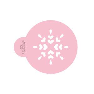 Love Heart Snowflake Cookie Stencil