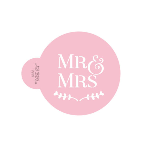 Mr and Mrs Cookie Stencil