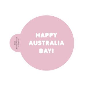 Happy Australia Day Cookie Stencil