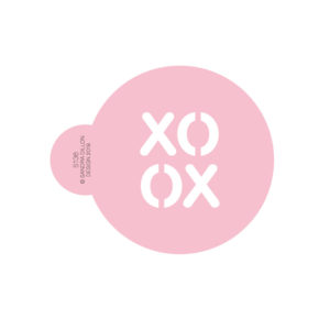 XO OX Cookie Stencil