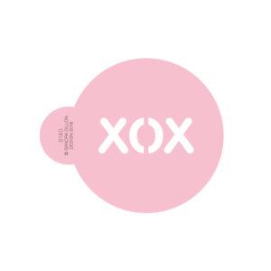 XOX Cookie Stencil
