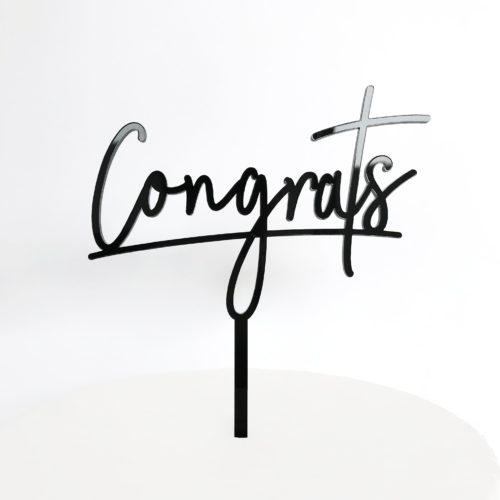 Congrats Cake Topper in Black