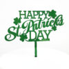 Fun Happy St Patrick's Day Cake Topper in Bottle Green