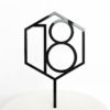 Number 18 Hexagon Cake Topper
