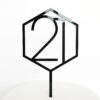 Number 21 Hexagon Cake Topper