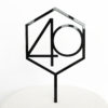 Number 40 Hexagon Cake Topper