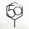 Number 50 Hexagon Cake Topper