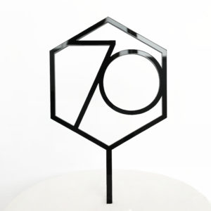 Number 70 Hexagon Cake Topper