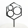Number 80 Hexagon Cake Topper