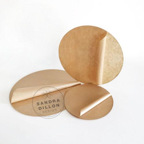 Round Acrylic Ganache Boards